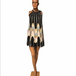 NWT MISSONI Tent Black Metallic Dress - 48